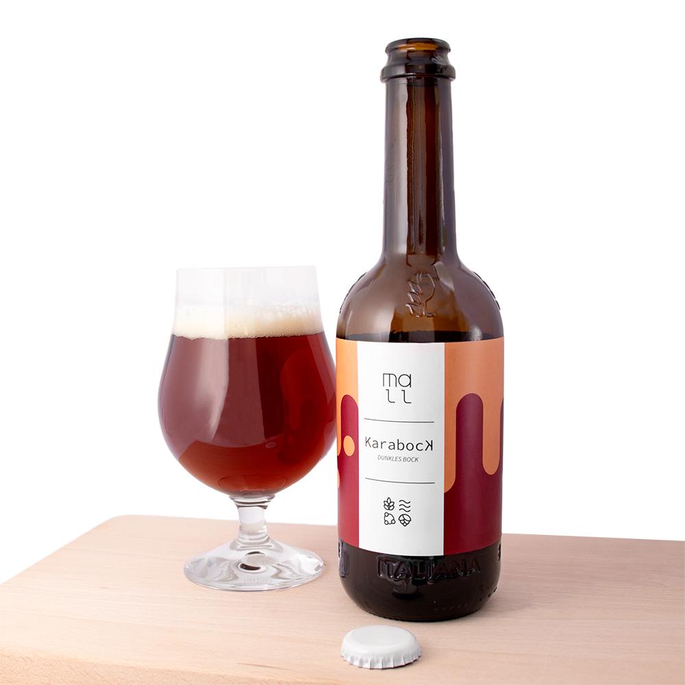Birra tipo Bock artigianale prodotta in italia da Mall.